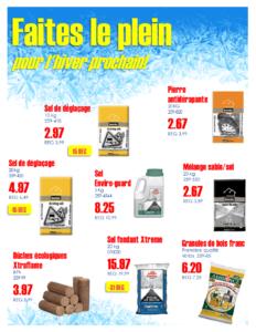 Promotion fin d'hiver - Materiaux Bonhomme